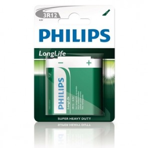 Batterij PHILIPS plat 3r-12r 4.5v blister=1x longlife