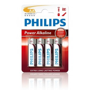 Batterij PHILIPS powerlite  lr06 alkaline blister=4x