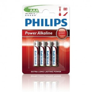 Batterij PHILIPS powerlite lr03 alkaline blister=4x