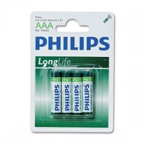 Batterij PHILIPS mini r03nn= aaa blister=4x