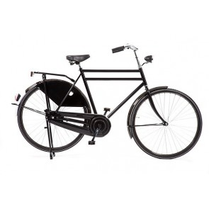 Tourfiets opa AVALON -export 28inch 61/ kt-remnaaf dubbele buis zw+w banden +57cm