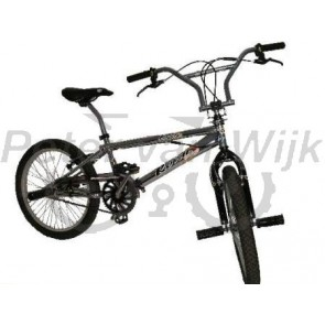 Bmx 20inch freestyle ROYAL-BUGATTI chroom/zwart 48-spaaks